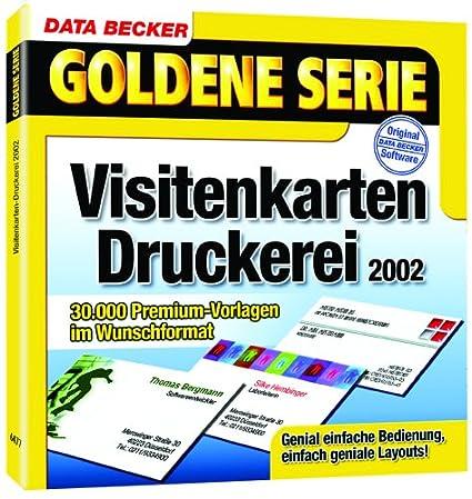 Goldene Serie Visitenkarten Druckerei 2002 Cd Rom Für