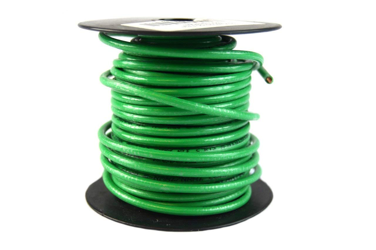 10 Ga Awg 50 Feet Solid Copper Green Ground Wire Ul Listed Satellite Residential Wiring Gage Cable Gw Electrical Tools Home Improvement Tibs