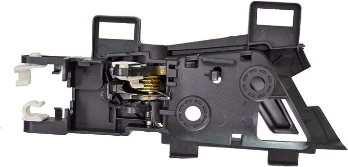 Interior Inner Inside Door Handle Rear Left Driver Side Gray Lever with Black Housing PT Auto Warehouse HO-2307GA-RL