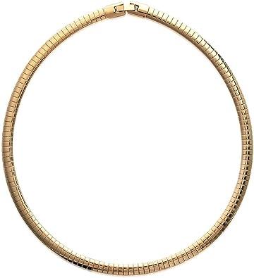 collier femme or rigide