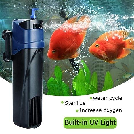 Esterilizador UV de 5 W para Bomba de oxígeno Sumergible, Filtro de Agua para Acuario