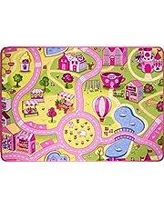 """The Rug House Tapete para niños - La Ciudad del funfair con Calles 95cm x 133cm (3'1"""" x 4'4"""")"""