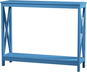 Convenience Concepts Oxford Console Table, Blue