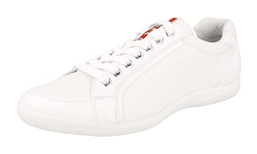 cheap sale tumblr Prada Men's White Leather Sneakers clearance the cheapest free shipping lowest price outlet new styles clearance pre order ySkYfO