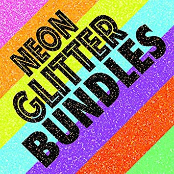 Patricks Day Bundle All Glitter Colors: Neon Green GL//Kelly Green GL//Light Green GL//Burnt Orange GL//Gold GL//Neon Orange GL Extreme Film Iron On Heat Transfer Vinyl 20 x 12 Each 6 Color St