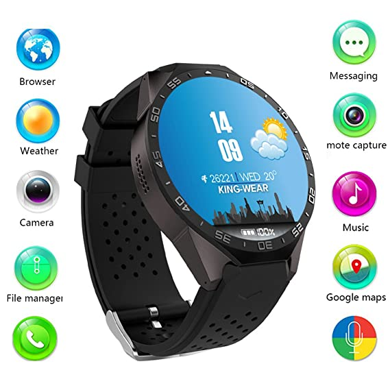 "Bluetooth GPS Camera Smart Watch 1.39"" IPS OLED Screen,512MB+4GB Smartwatch Support"