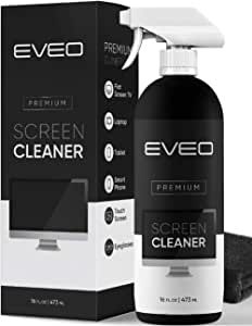 Screen Cleaner Spray - TV Screen Cleaner or Computer Screen Cleaner - Also fit Laptop, Phone, Ipad - Electronic Devices Monitor Cleaner -Microfiber Cloth Included