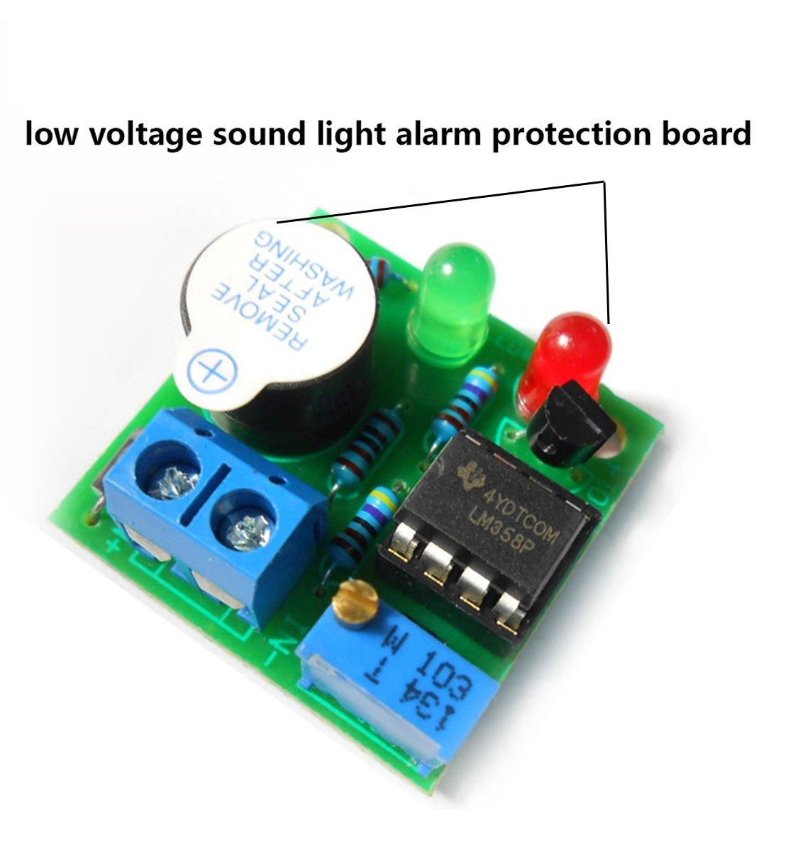 12v Lead Acid Battery Overdischarge Sound Light Alarm Protection Low Voltage Circuit Board Warner