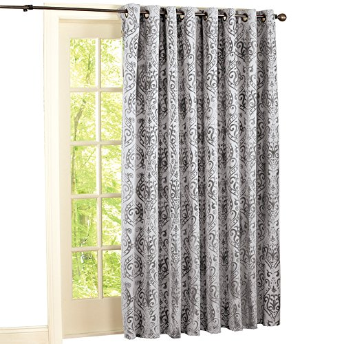 Paisley Scroll Grommit Curtain Polyester