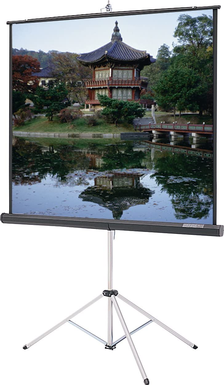 Picture King Matte White 60X60IN Tripod with keystone Elim