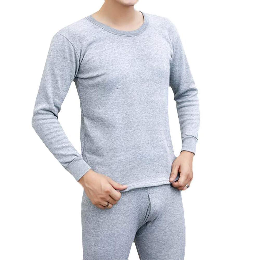 Men' s Thermal Underwear Set Winter Warm Long Johns Base Layer Shirts &Bottom Tights Skiing Hiking Compression Set Winsummer