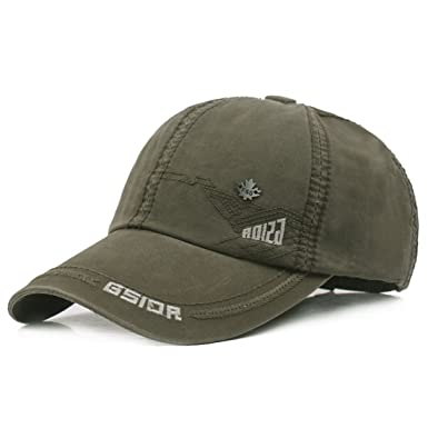 1264f7e6c9f XRDSS Vintage Cotton Baseball Cap Unisex Adjustable Sports Sun Hat (Army  Green)