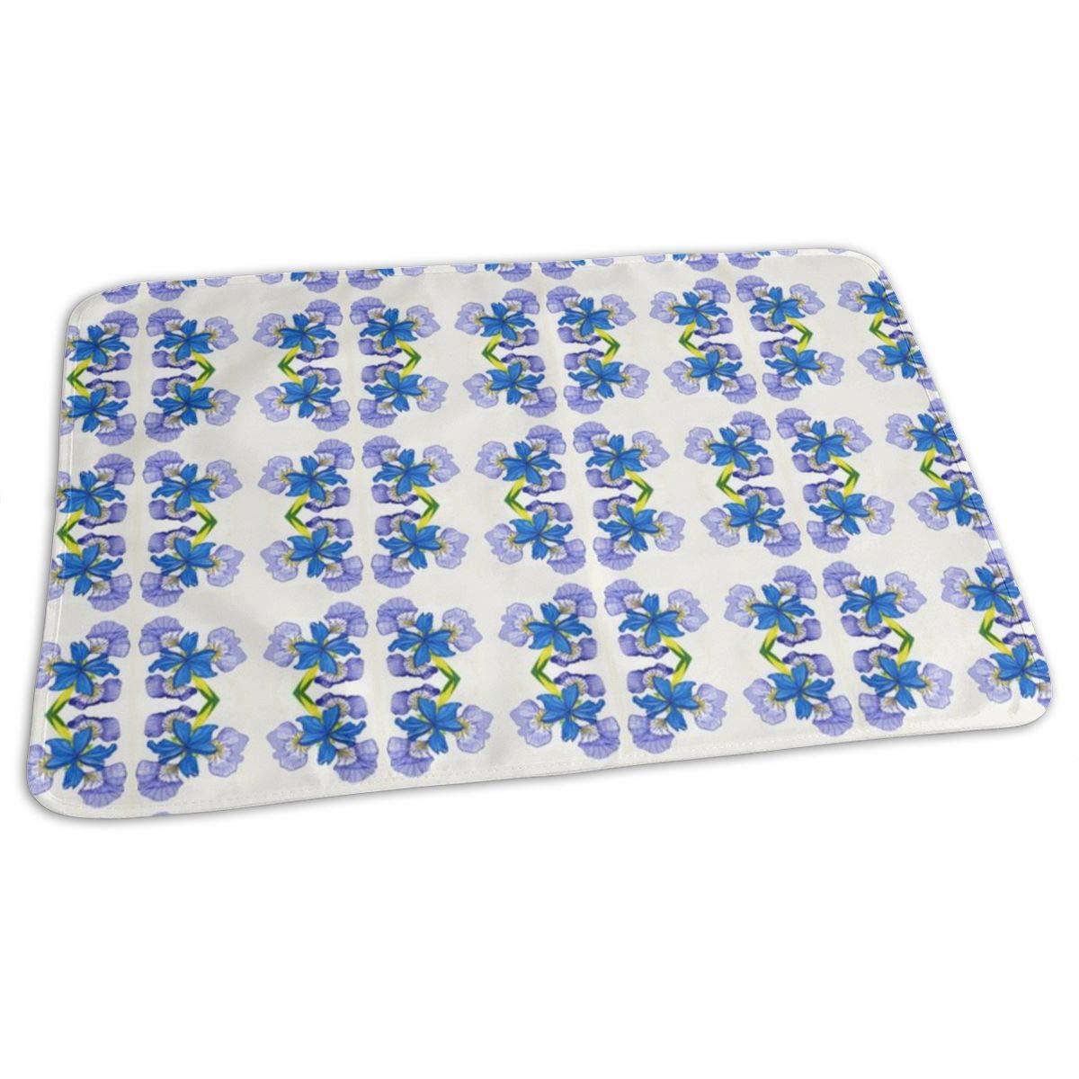 Blue Flag Iris Baby Portable Reusable Changing Pad Mat 19.7x27.5 inch