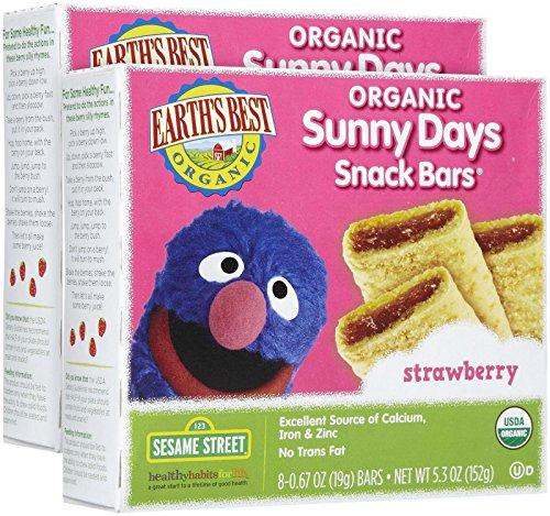 Earth's Best Sesame Street Sunny Days Snack Bars - Strawberry - 5.3 oz - 2 pack