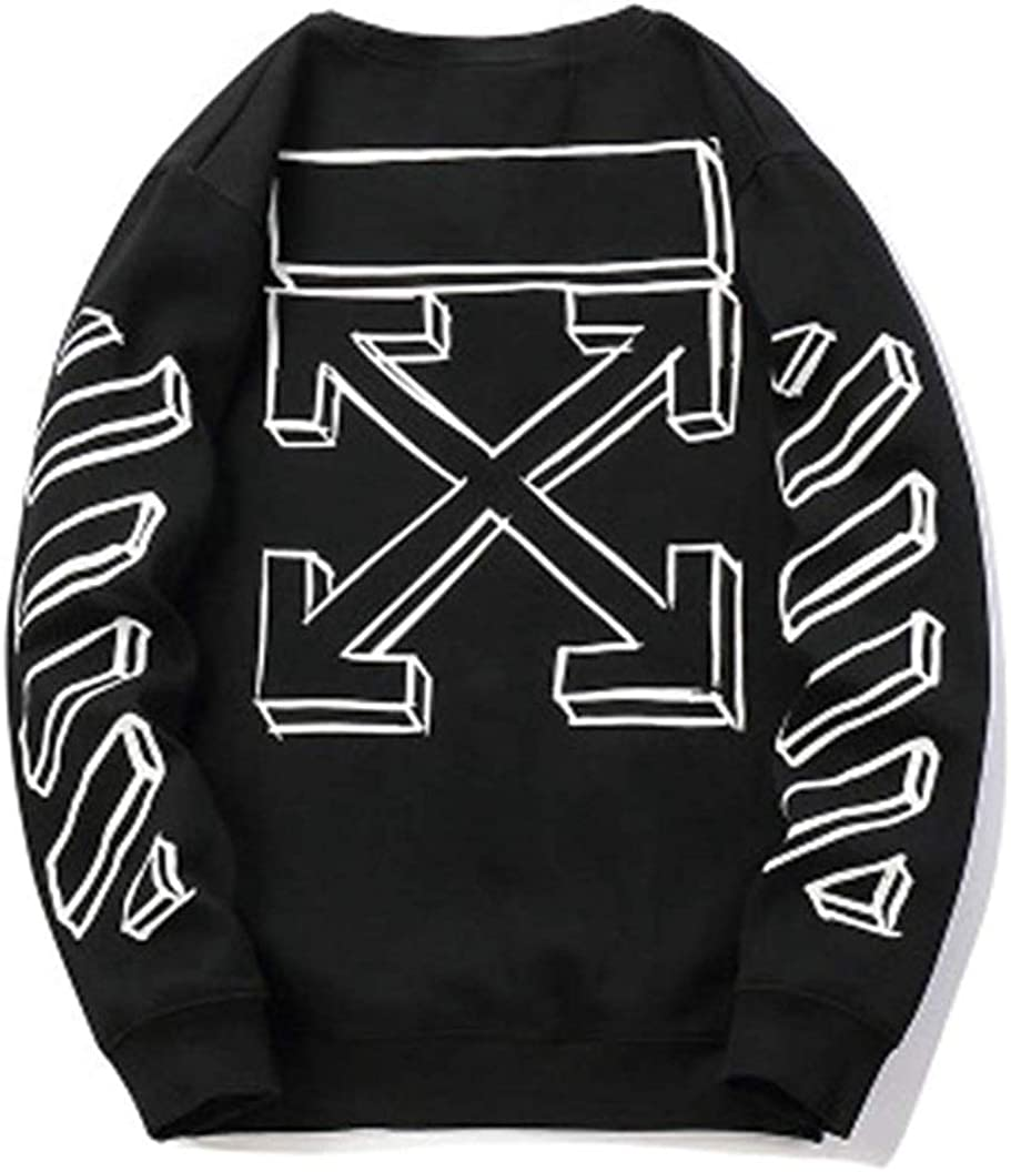 Hot Street Trendy Fashion Hip Pop off Graffiti Sketch Plus Velvet Hood Long Sleeve Sweatshirt Pullover Men Women Boys Girls Couple