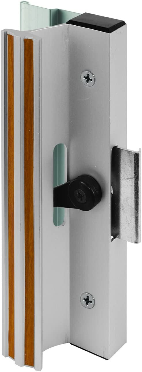 Prime-Line MP1005 Sliding Glass Door Handle, Clamp Style, Surface Mount, Aluminum, Black, 1 Set