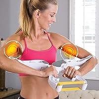 Dhruheer Onder Arm Workout Machine, Arm Upper Hands Shoulder Biceps Triceps Back Exerciser Force Fitness Equipment Tool with 3 Level Resistance Training Bands for Men & Women