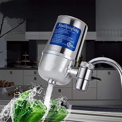 Trihedral Galvanoplastia purificador de Agua doméstico Filtro de Grifo purificador Frontal de Cocina hogar (Color : Silver, Size : 6L): Amazon.es: Hogar