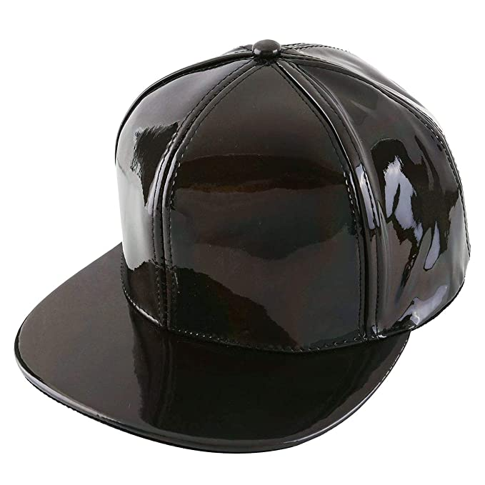 246dcac291b6e1 Image Unavailable. Image not available for. Color: FALETO Adjustable Shiny  Holographic Baseball Cap ...