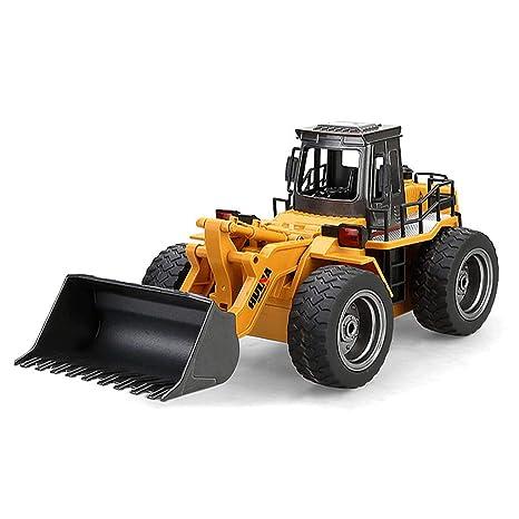 RC Bulldozer Emulational Camión Cargador Excavadora Grande Juguetes de Control Remoto Cargador Rueda Regalo de cumpleaños