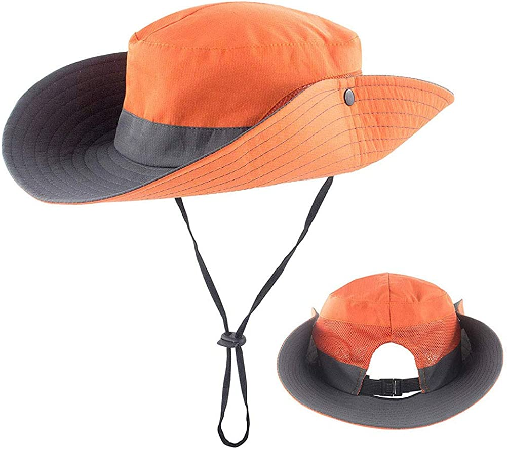 Womens Sun Hats with Ponytail Hole,Outdoor Sun Protection Bucket Hats for Summer