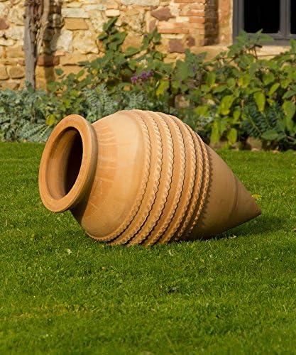 Vitex - Cerámica de creta-ánfora de terracota de alta calidad, resistente a las heladas, decoración tumbada para el jardín, estanque, 50-110 cm: Amazon.es: Jardín