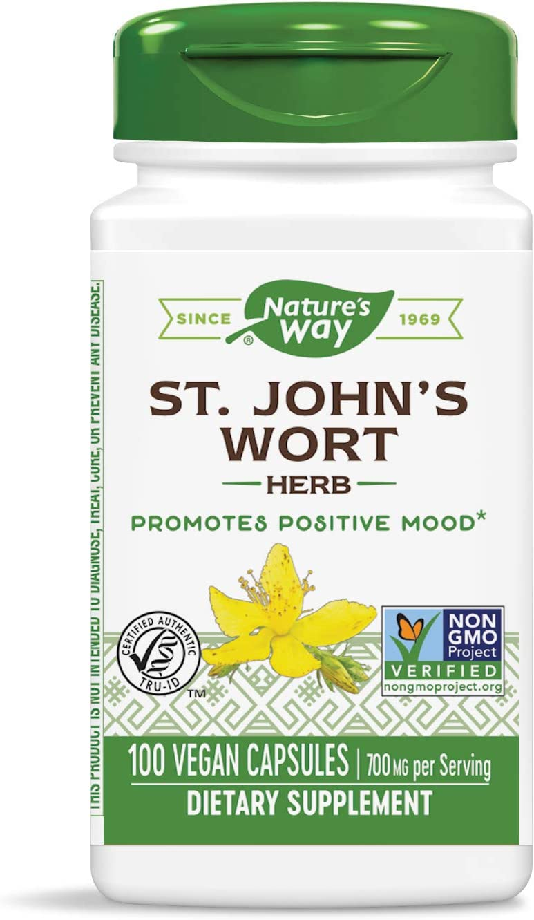 Nature's Way St. John's Wort; 350mg; Non-GMO Project Verified, TRU-ID Certified; 100 Vcaps (Packaging May Vary)