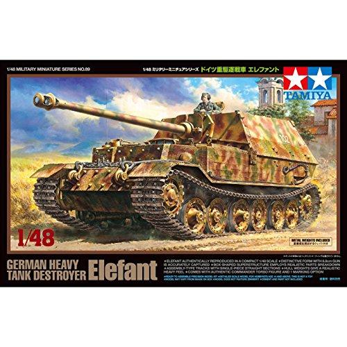 Tamiya America, Inc 1 48 German Heavy Tank Destroyer Elefant, TAM32589 ()