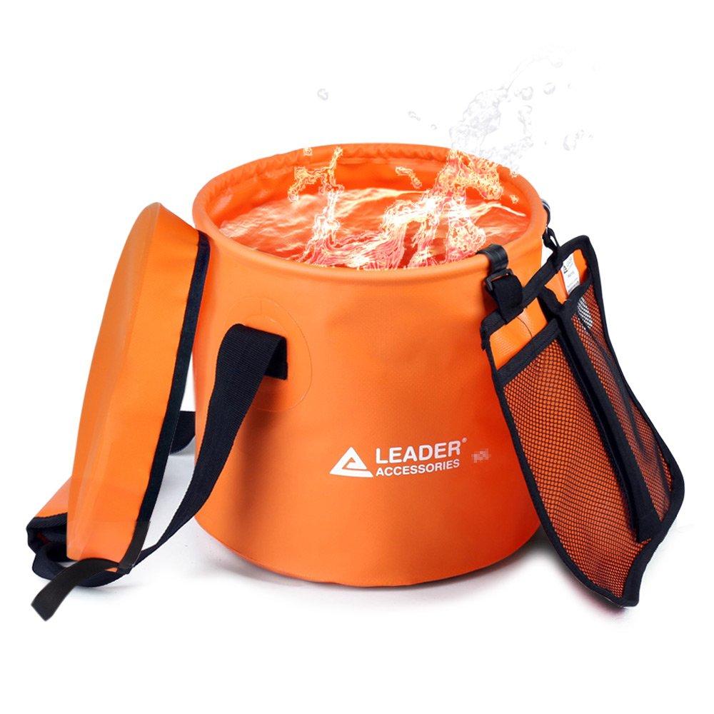 引出線アクセサリー10l 16l 23l軽量丈夫ポータブル折りたたみ可能なバケット折りたたみ水コンテナWash Basin with Lid for forキャンプ旅行ハイキングとガーデニング B071HHQV47 16L|A-Orange A-Orange 16L