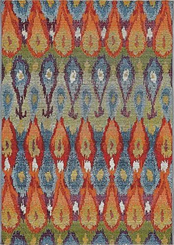 or Multi 4' x 6' - Feet Marbella Collection Area rugs - Perfect for Outdoor Area's & Indoor (4' Victorian Collection)