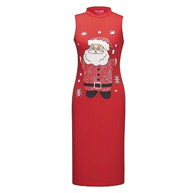 Weihnachten Partykleid für Frauen,FRIENDGG Damen Mädchen Weihnachten ...