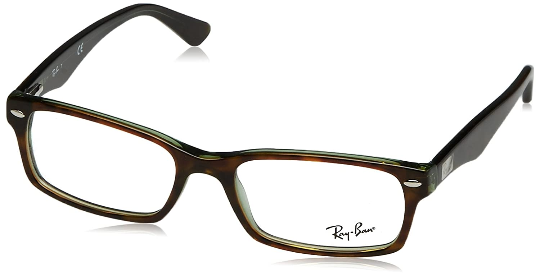a9712a7da3 Amazon.com  Ray-Ban Men s 0rx5206 No Polarization Rectangular Prescription  Eyewear Frame Havana Green 54 mm  Ray Ban  Clothing