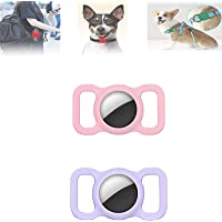 Pet Silicone-Protective Case for Apple Airtag GPS Finder Dog Cat Collar Loop, Adjustable GPS Tracking Dog Cat,Anti-Lost…