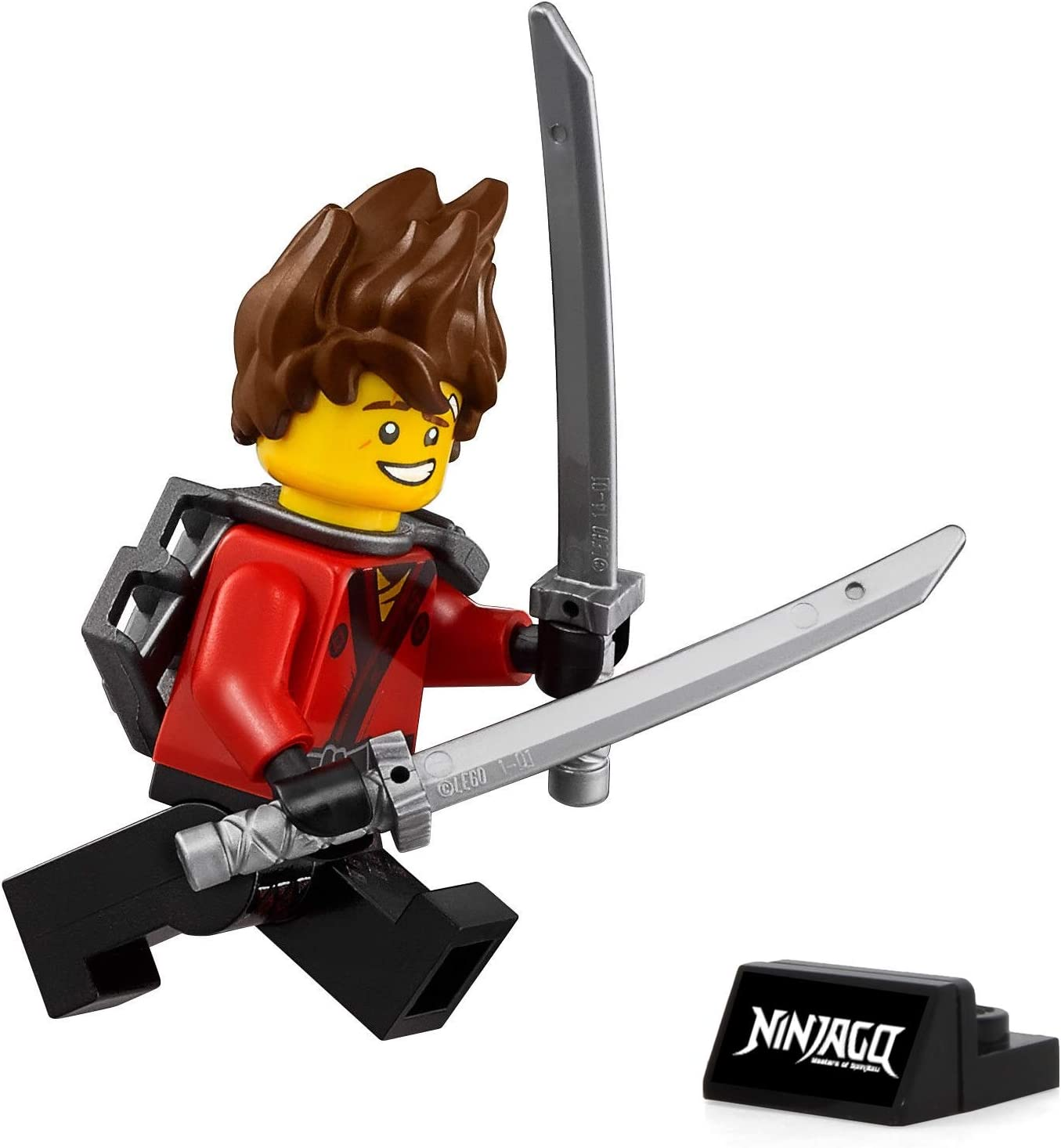 Amazon Com Lego Ninjago Movie Kai Minifigure With Spiked Hair And Display Stand 70629 Toys Games