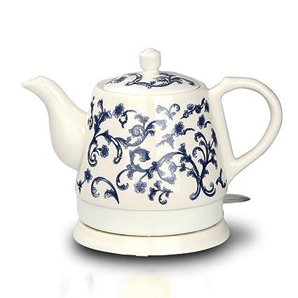 XUEQIN Hervidores y dispensadores de Agua Caliente Caldera eléctrica de cerámica China de Porcelana Azul y