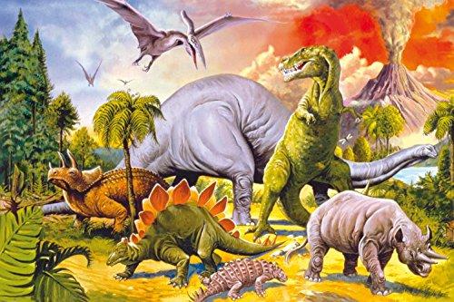 1art1 58951 Dinosaurier Collage Dino Welt Selbstklebende
