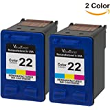 Valuetoner Remanufactured Ink Cartridge Replacement For 22 CC580FN C9352AN (2 Tri-Color) 2 Pack