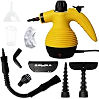 EWORLD Handheld Pressurized Steam Cleaner Multi-Purpose with 9-Piece Accessory Kit for Stain Removal, Floor Steamer…
