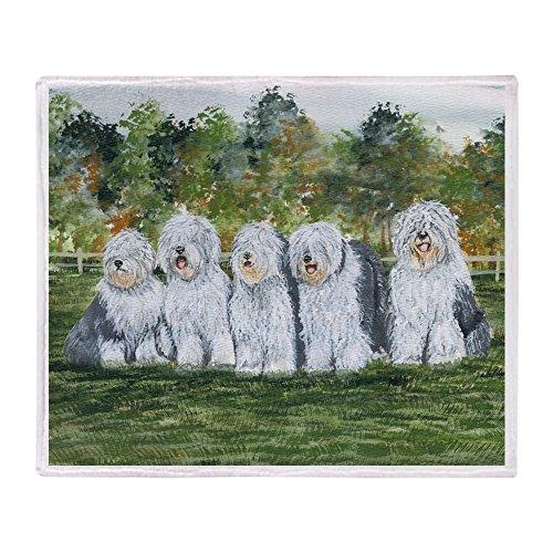 CafePress - Old English Sheepdog - Soft Fleece Throw Blanket, 50