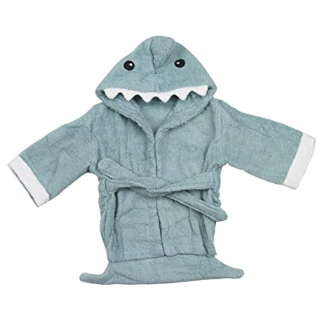 Anbaby Cute Animals Hooded Bathrobe and Towel 0-24 Months Bath Robe Baby Shower Gift