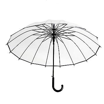 Paraguas Transparente De La Moda, Paraguas Automático De La Manija Larga, Paraguas Del Viaje