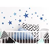 I-love-Wandtattoo WAS-10108 Kinderzimmer Wandsticker Set Aquarell Sterne in Blau zum Kleben Wandtattoo Wandaufkleber Sticker Wanddeko