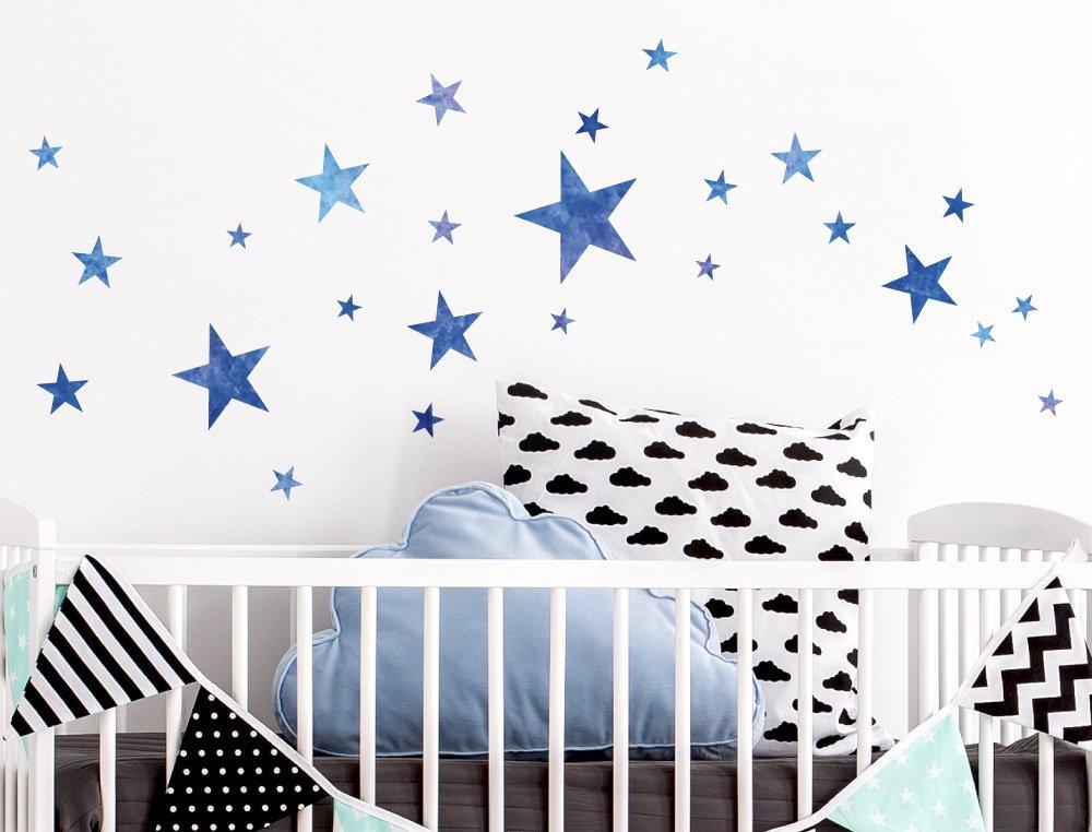 Kinderzimmer sterne  I-love-Wandtattoo WAS-10108 Kinderzimmer Wandsticker Set