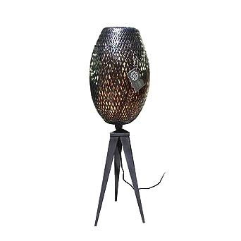 Bambus Tripodlampe Cocoon Tripode Schwarz O 28 Cm X H 89 Cm