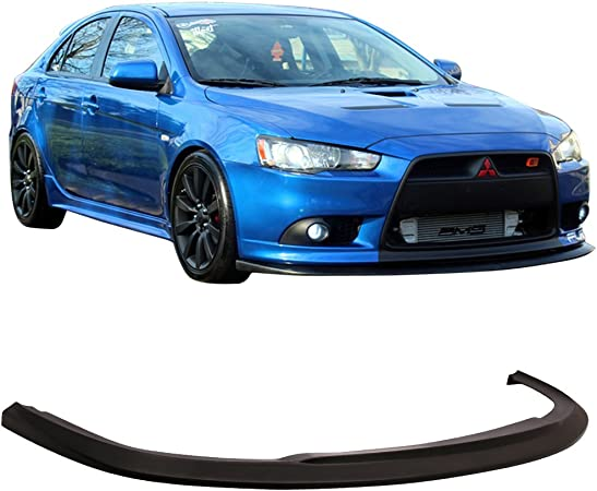 amazon com front lip compatible with 2009 2015 mitsubishi lancer ralliart models sti style unpainted black pu bumper lip splitter spoiler body kit by ikon motorsports 2010 2011 2012 2013 2014 automotive front lip compatible with 2009 2015 mitsubishi lancer ralliart models sti style unpainted black pu bumper lip splitter spoiler body kit by ikon