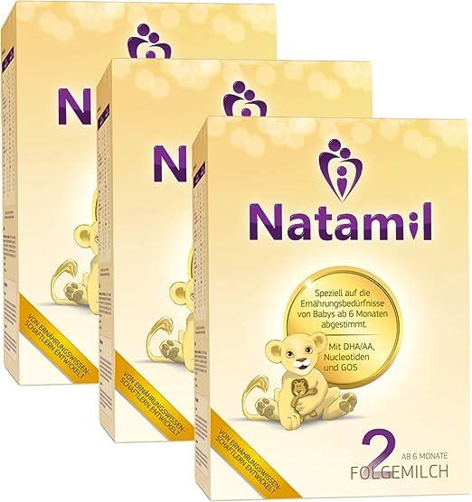 Natamil 2, cultivo folgemil, a partir del 6º mes, envase de 3 (3 x 800g): Amazon.es: Bebé