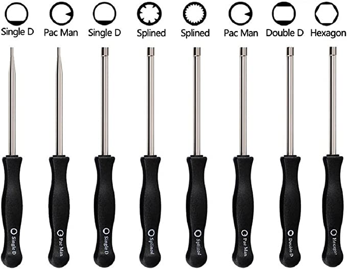 7-Teeth Splined Pac Man//Hexagon Carb Screwdriver for Common 2 Cycle Small Engine Wocst 2 Cycle Carburetor Adjustment Tool 21 Teeth Splined//Pac Man//Single D//Double D Set of 6