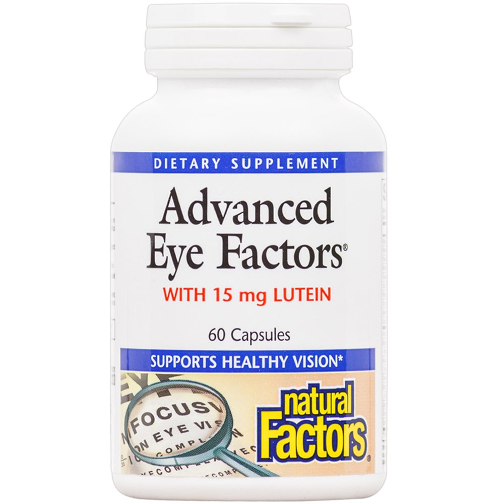 Natural Factors - Advanced Eye Factors, Supports Healthy Vision with Lutein and Antioxidants, 60 Capsules