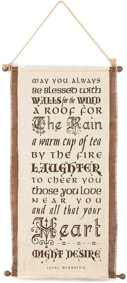 Jozie B 246330 May You Always Be Blessed Burlap Wall Hanging