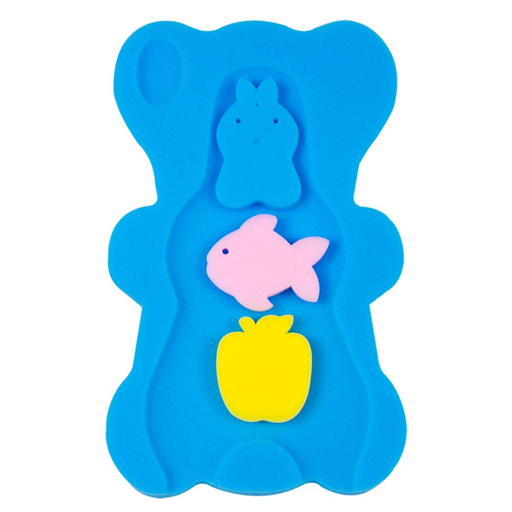 Yellow NIRVANA Comfy Baby Bath Sponge Cushion Anti Bacterial And Skid Proof Bath Mat